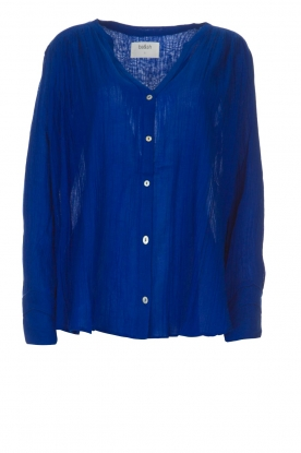 ba&sh |  Blouse with pleat details | blue