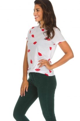 Zoe Karssen   T-shirt Lips   wit