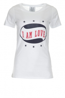Zoe Karssen | T-shirt I Am Love | wit