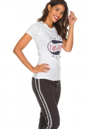 Zoe Karssen | T-shirt I Am Love | wit