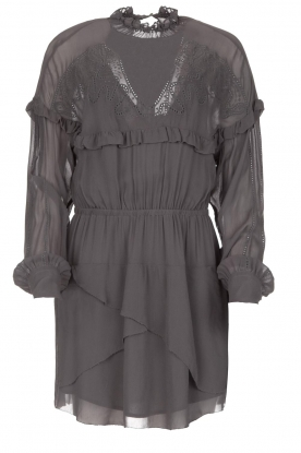 IRO |  Dress with embroidered details Paradiz | grey