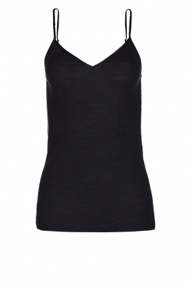 Hanro |  Top wool Silk | black