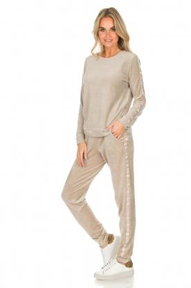 Hanro | Velvet joggingbroek Marlie | beige
