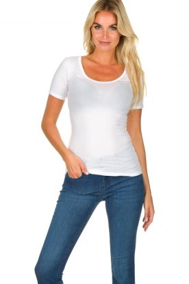Hanro |  Soft tight top Chloe | white