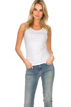 Hanro |  Soft tight top Christine | white