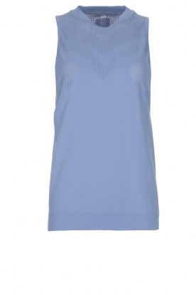 Varley |  Soft sports top with low-cut armholes Kennedy | blue