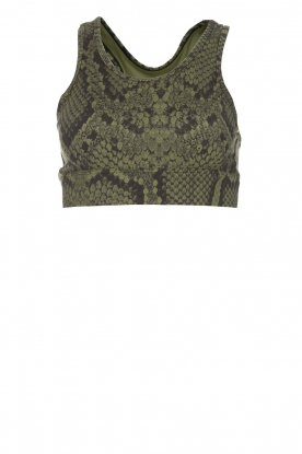 Varley | Sports bra with snake print Berkely | green