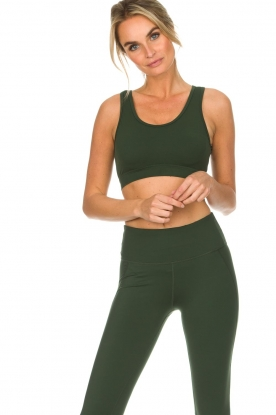 Varley |  Sports bra with mesh details Russel | green