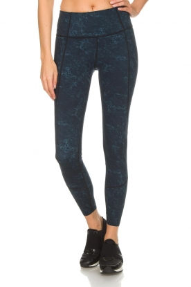 Varley |  Sports leggings with marble print Moon | blue