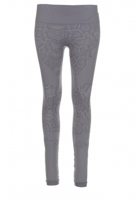 Varley |  Sports leggings with snake print Quincy Tight | grey