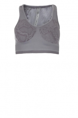 Varley |  Sports bra with snake print Perkins | grey