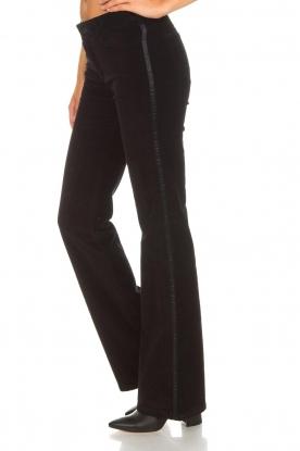 Lois Jeans | Fluwelen flared jeans Rawal L34 | zwart
