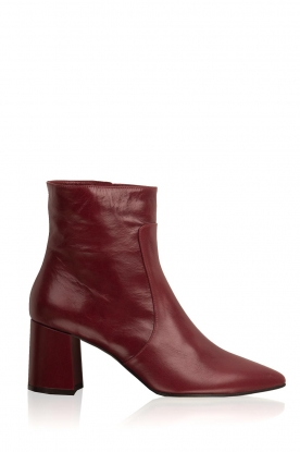 Noe |  Leather ankle boots Nippie | bordeaux