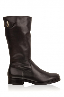 Noe |  Leather boots Nuca | black