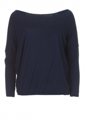 BLAUMAX |  Linen top Santiago| dark blue