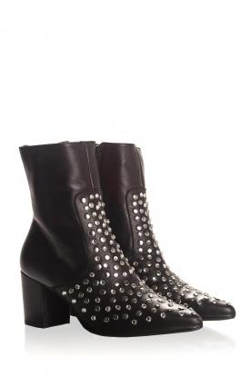 Toral | Leren laarzen Sandra | zwart