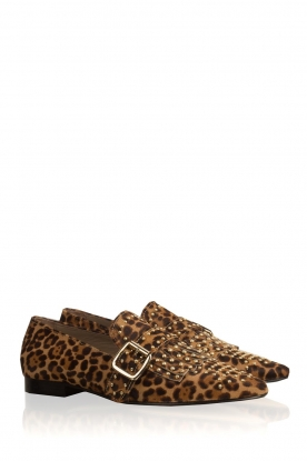 Toral | Loafers met studs Kelly | dierenprint