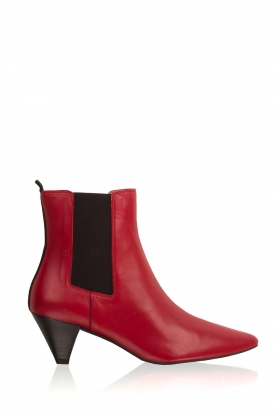 Toral |  Leather ankle boots Tibet | red