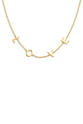 Just Franky |  14k gold Love letter necklace - Small | gold