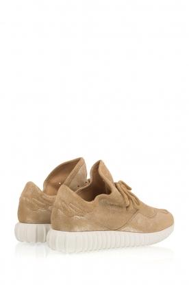 SVNTY | Suède sneakers Glitter Flex | goud