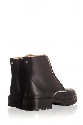 SVNTY | Leren biker boots Nadia | zwart
