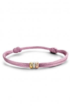 Just Franky    Triple gold Triple Love bracelet   multi