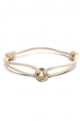 Just Franky    Trio gold Iconic Triple Colour bracelet   multi