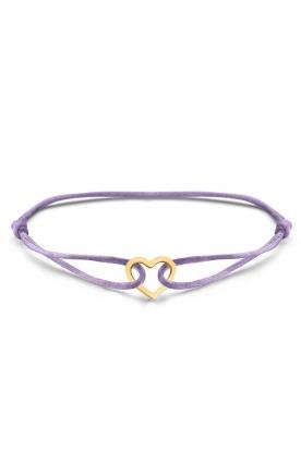 Just Franky    Iconic Heart Cord bracelet   multi