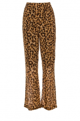 Essentiel Antwerp |  Leopard print pants with wide pipes Remorse | animal print