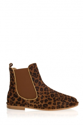Maluo |  Leather ankle boots Cato | animal print