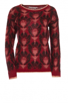 Aaiko | Knitted sweater with print Renny | bordeaux