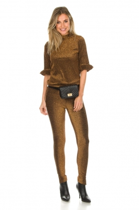 Aaiko |  Glitter leggings Gogi | gold