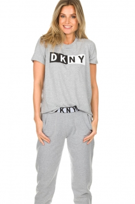 DKNY Sport |  Sports top with logo print Lawa | grey