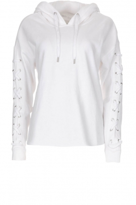 DKNY Sport | Sweater with lace-up sleeves Lotte | white