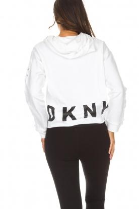 DKNY Sport | Trui met geregen veterdetails Lotte | wit