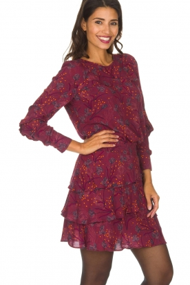 Dante 6 | Top met bloemenprint Dakota | bordeaux