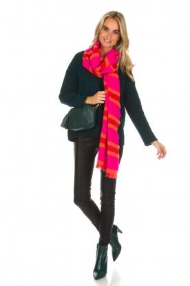 Knit-ted | Imitatieleren legging Amber | zwart