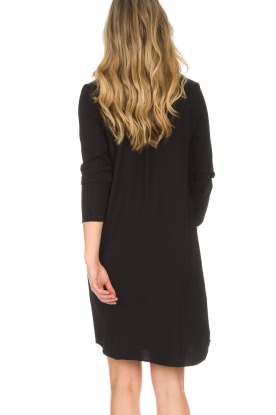 Knit-ted | Blouse jurk Amani | zwart