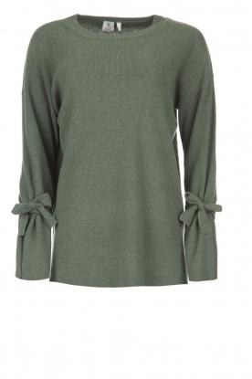 Knit-ted | Trui met strikjes Tineke | groen