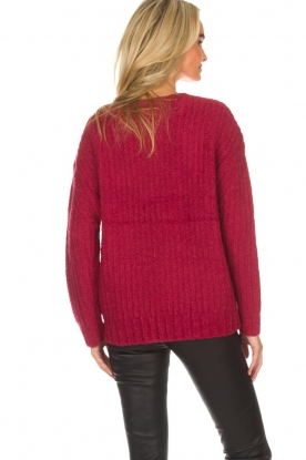Knit-ted | Trui Tyra | rood