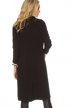 Knit-ted | Lang vest Trixie | zwart
