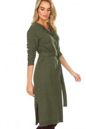 Knit-ted | Jurk Tamara | groen
