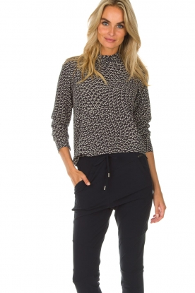 Knit-ted | Top Alanis | blauw