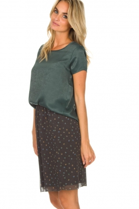 Knit-ted | Basic top Angela | groen
