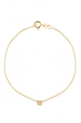 14k gouden armband Cube  goud