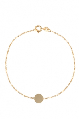 Just Franky |  14k golden bracelet Iconic Coin | gold