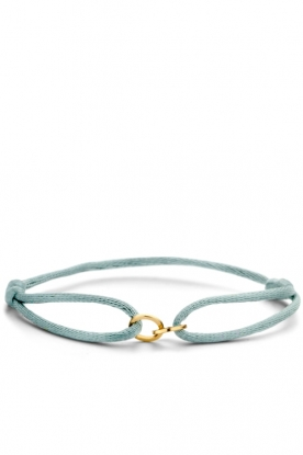 Just Franky |  Silk bracelet with 14k gold Open Circles | gold