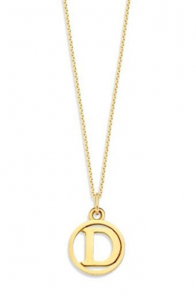 Just Franky |  14k golden necklace Charm  42-44 cm | gold