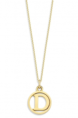 Just Franky | 14k golden necklace Charm  42-44 cm | yellow gold