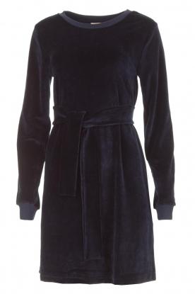 American Vintage | Fluwelen jurk Isac | donkerblauw